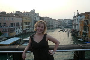 Me in Venice in front of the Grand Canal