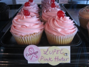 LUPEC's Pink Hooter Cupcake created by Big Fat Cupcake
